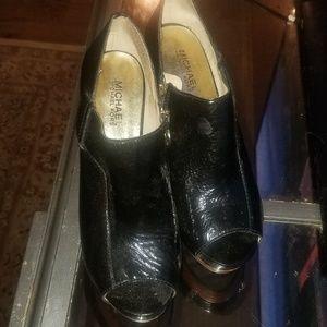Michael Kors Peep Toe Ankle Boots